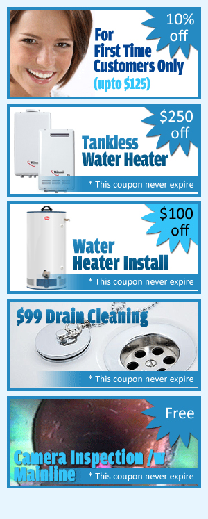 plumbing and drainage first time customer coupon
